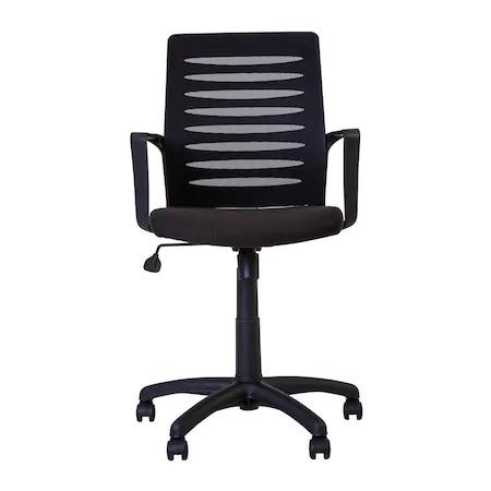 Set 2 scaune de birou MASTER GTP, cu brate, mesh/textil, negru [5]