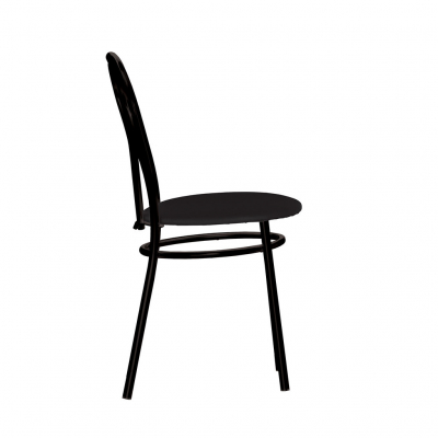 Scaun bucatarie Velvet Black, Negru piele ecologica [2]