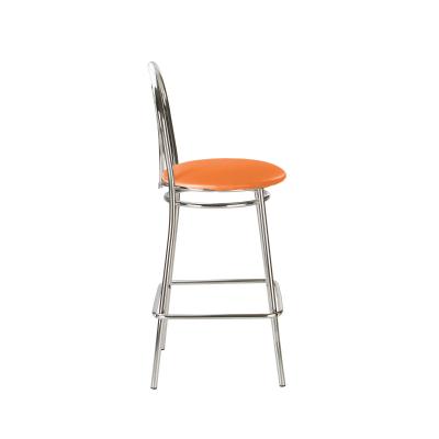 Scaun de bar Picard Hoker, portocaliu, piele ecologica2