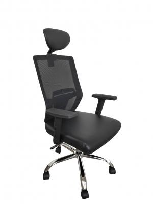 Scaun de birou ergonomic BONANZA, PU+Mesh, cu suport lombar si tetiera1