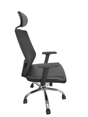 Scaun de birou ergonomic BONANZA, PU+Mesh, cu suport lombar si tetiera2