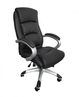 Scaun de birou ergonomic OPTIMAL, PU, Negru2