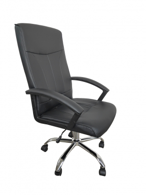 Scaun de birou ergonomic VITO, PU, Negru2