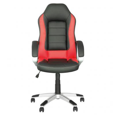 Scaun de birou gaming RECO, Negru-rosu piele ecologica1