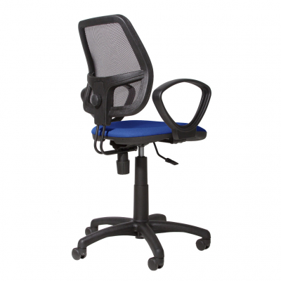 Scaun de birou MEGA, Albastru stofa cagliari1