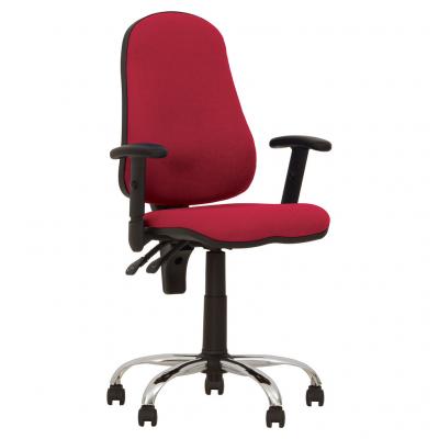 Scaun de birou OFFICE GTR CHROME, Rosu stofa fiji0