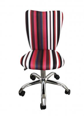 Scaun de birou pentru copii HELENA, Stofa multicolora cu model dungat1