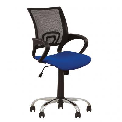 Scaun de birou NETIC GTP CHROME, Albastru stofa cagliari0