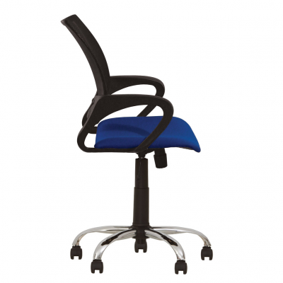 Scaun de birou NETIC GTP CHROME, Albastru stofa cagliari2