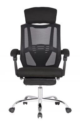 Scaun directorial ergonomic ZEN, Negru, Mesh/Textil0