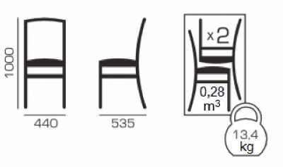 Set 2 scaune Amalfi, Lemn, Wenge/Savannah lilac5