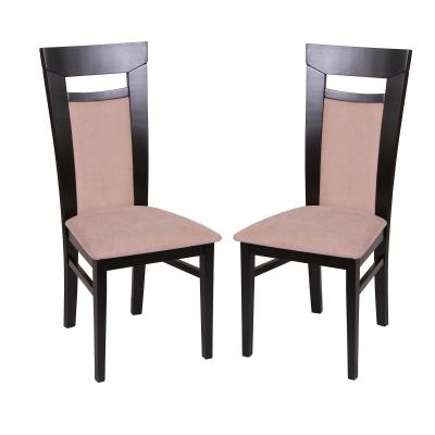 Set 2 scaune Amalfi, Lemn, Wenge/Misty beige [0]