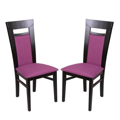 Set 2 scaune Amalfi, Lemn, Wenge/Savannah lilac0