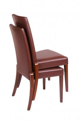 Set 2 scaune Braga, Lemn, Nut/Bum 12 [1]