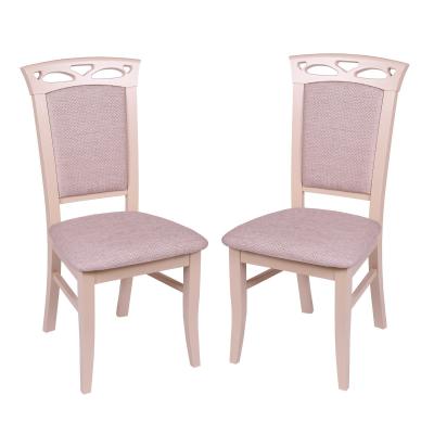 Set 2 scaune Fiona, Lemn, Beige/Regent plain 030