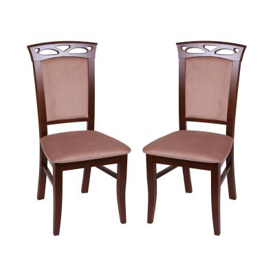 Set 2 scaune Fiona, Lemn, Nut/Aya Nougat [0]