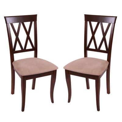 Set 2 scaune Milano, Lemn, Nut/Misty beige0