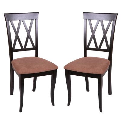 Set 2 scaune Milano, Lemn, Wenge/Misty light brown [0]
