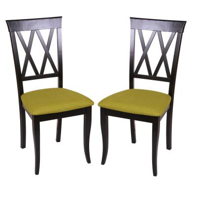 Set 2 scaune Milano, Lemn, Wenge/Savannah olive [0]
