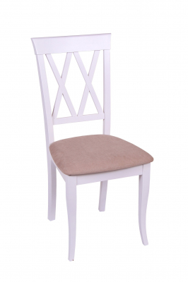 Set 2 scaune Milano, Lemn, White/Misty Beige [1]