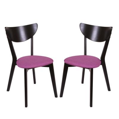 Set 2 scaune NEO, Lemn, Wenge/Savannah lilac0