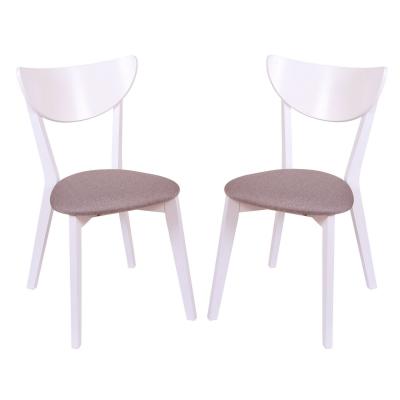 Set 2 scaune NEO, Lemn, White/Bonus New Cappucino [0]