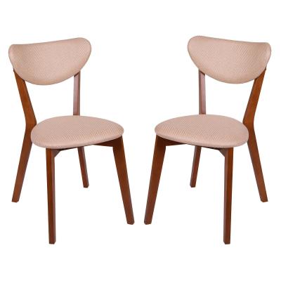 Set 2 scaune Neo M, Lemn, Walnut/Brighton Beige0