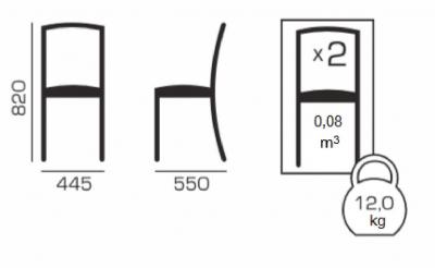 Set 2 scaune Neo T, Lemn, Wenge4