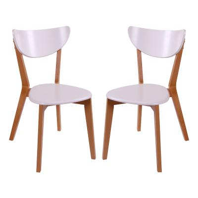 Set 2 scaune Neo T, Lemn, Beech/White [0]