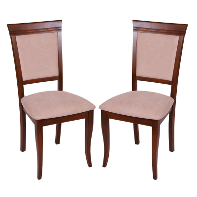 Set 2 scaune ROMA, Lemn, Nut/Misty beige [0]
