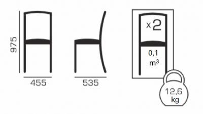 Set 2 scaune ROMA, Lemn, Wenge/Aya nougat5