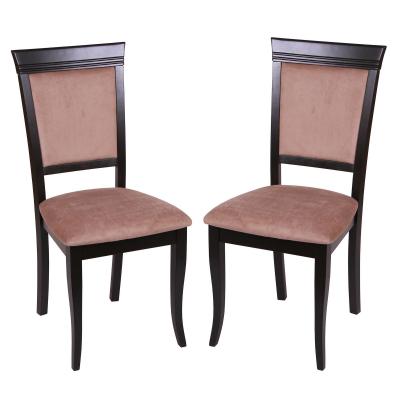 Set 2 scaune ROMA, Lemn, Wenge/Aya nougat0