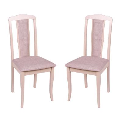 Set 2 scaune  San Marino, Lemn, Beige/Regent plain 03 [0]