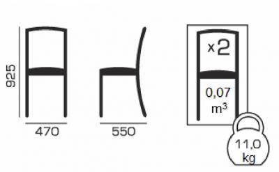 Set 2 scaune Star, Lemn, Wenge/Misty Beige [5]