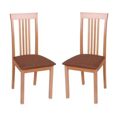 Set 2 scaune Wooden, Lemn, Beech/Savannah Gold Browm0