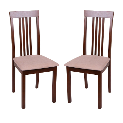 Set 2 scaune Wooden, Lemn, Nut/Misty beige0