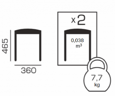 Set 2 taburete  Clever, Lemn, Nut4