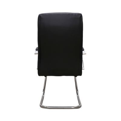 Scaun de vizitator HEDO CF, piele ecologica, negru3