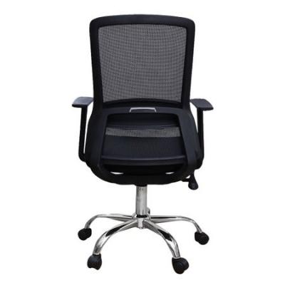 Scaun de birou ergonomic EASY, mesh, negru [3]