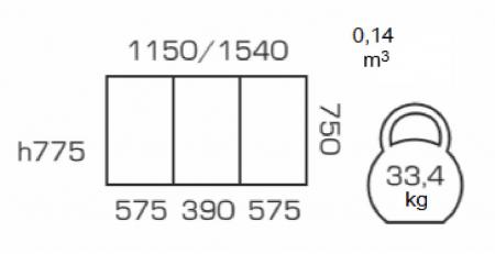 Masa de bucatarie extensibila BREFY, 115(155)*75 cm, Walnut [3]