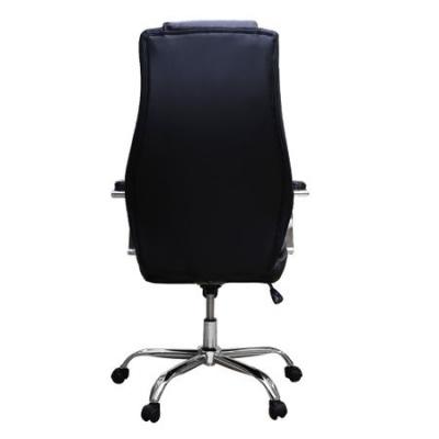 Scaun de birou directorial STELO, piele ecologica, negru [3]