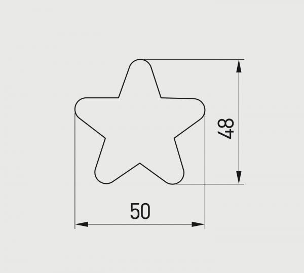 Buton mobila copii STAR 50x48 mm, galben [3]
