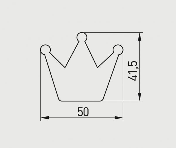 Buton mobilier copii Crown, roz, 50x41 mm 1