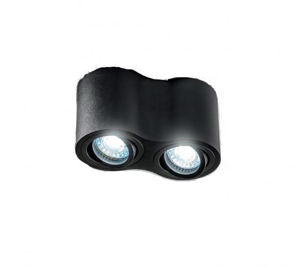 Spot AVEIRO DUO, negru, bec GU10 max. 2x20W 0
