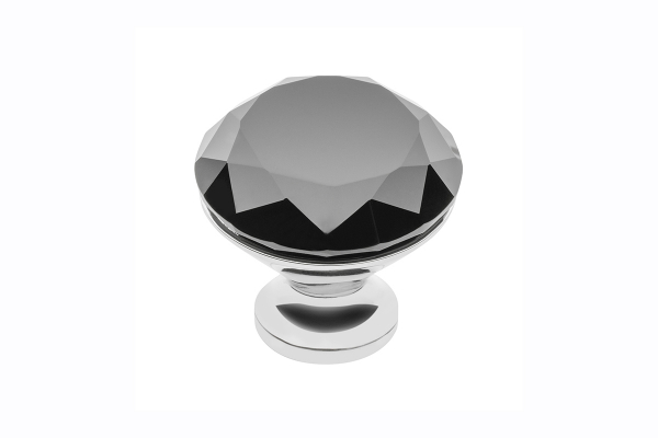 Buton mobila Black Crystal D25 mm 0