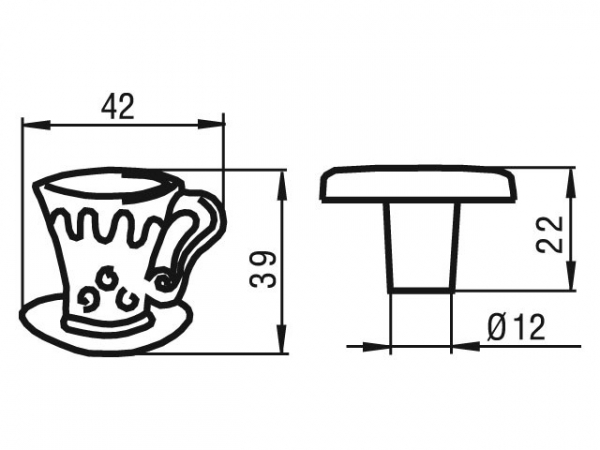 Buton antichizat CEASCA 42x39 mm, Alama, 1058-40 [1]