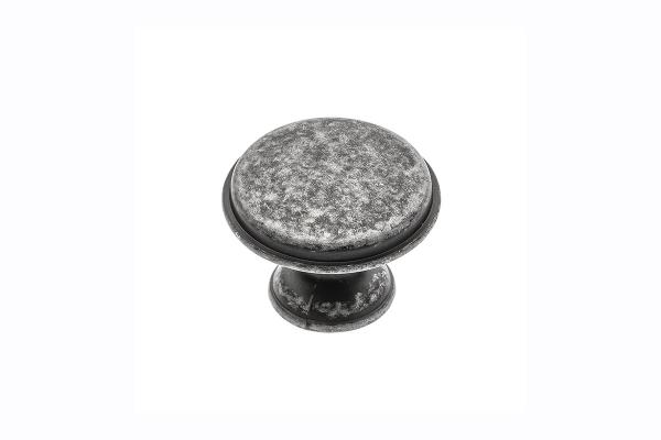 Buton mobila Cento D28 mm, argintiu antichizat 0