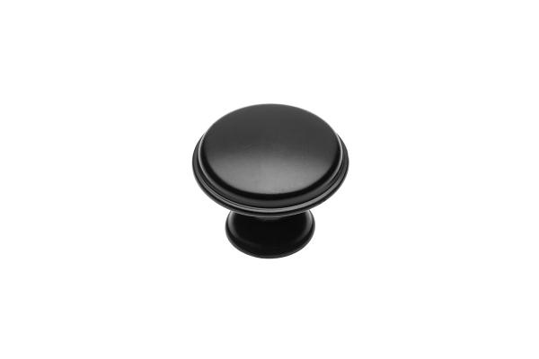 Buton mobila Cento D28 mm, negru mat 0
