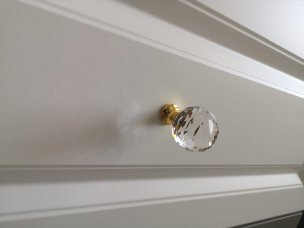 Buton mobila Crystal Palace D30 mm, auriu [2]
