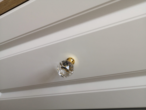 Buton mobila Crystal Palace D30 mm, auriu [3]